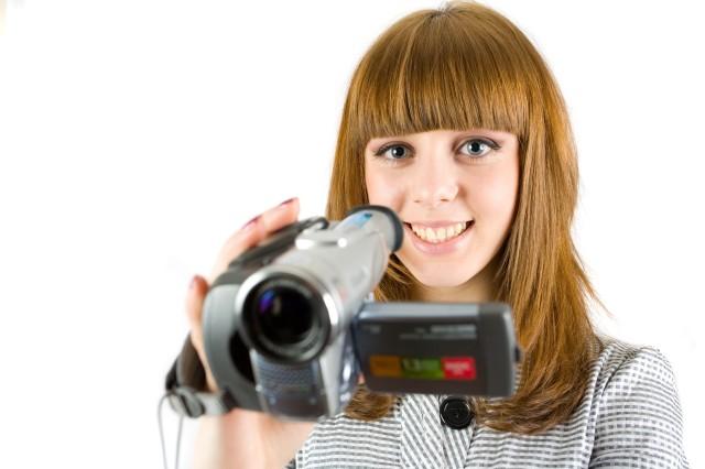 Fille caméra